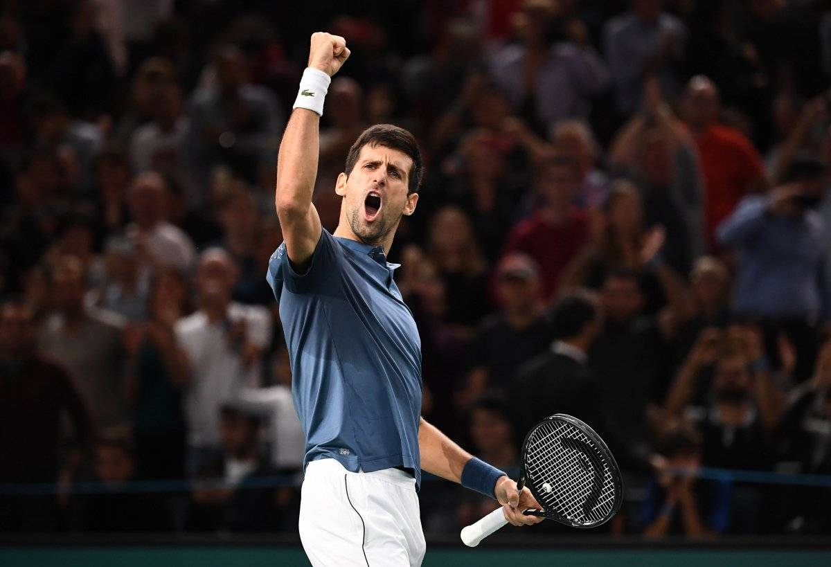 Djokovic festejó con todo su triunfo