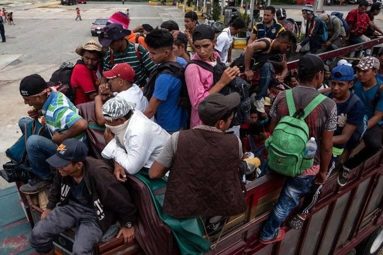 Migrantes hondureños