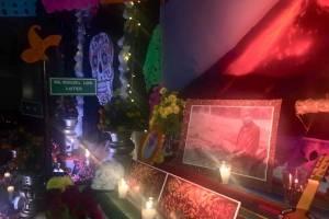 Altar por las víctimas del volcán de Fuego, embajada de México en Guatemala