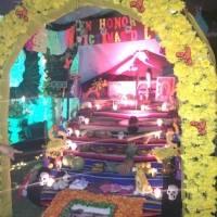 Altar por la víctimas del volcán de Fuego, embajada de México en Guatemala