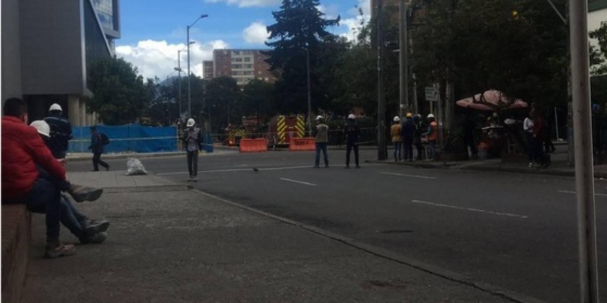 Tubo de gas se rompió en Corferias y provocó cierre del sector