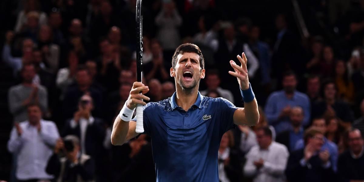 Djokovic elimina a Federer y disputará la Final del Masters de París