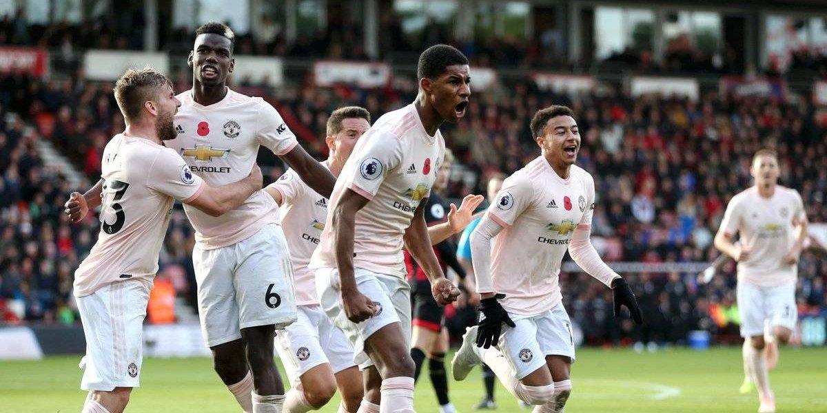 Manchester United rescata victoria frente al Bournemouth