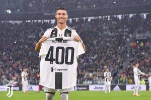 Juve celebra los 400 goles de CR7 en Europa