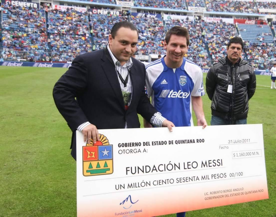 Alguno de los aportes que ha recibido la Fundación de Messi