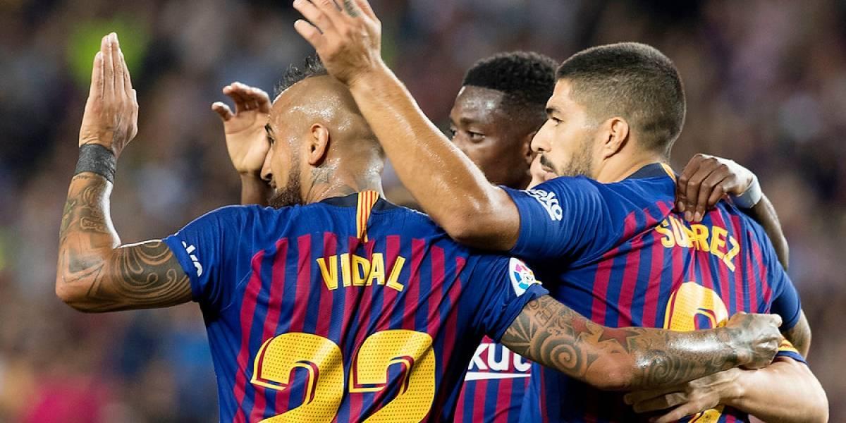 Arturo Vidal entró para cambiar la historia de un Barcelona que logró un triunfo agónico ante el Rayo