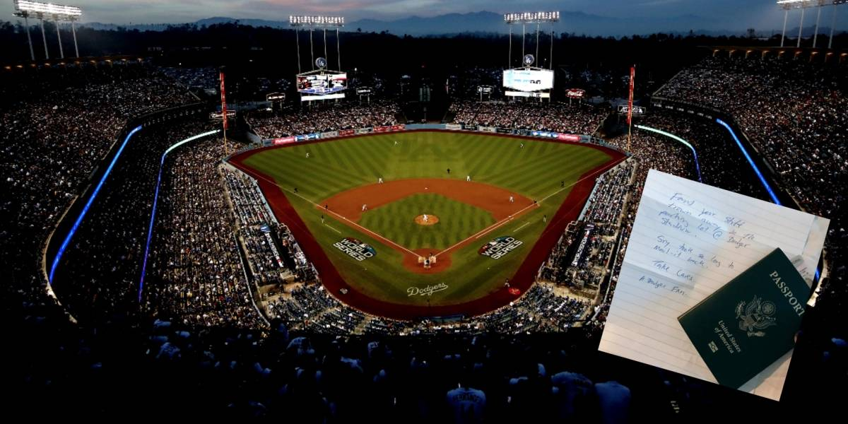 Fan de Dodgers regresa cartera a periodista que la extravió en el Estadio