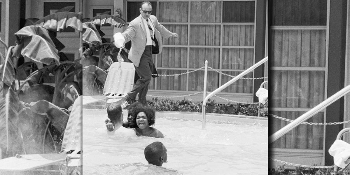 A impactante foto de homem branco jogando ácido em jovens negras que voltou à tona nas eleições americanas