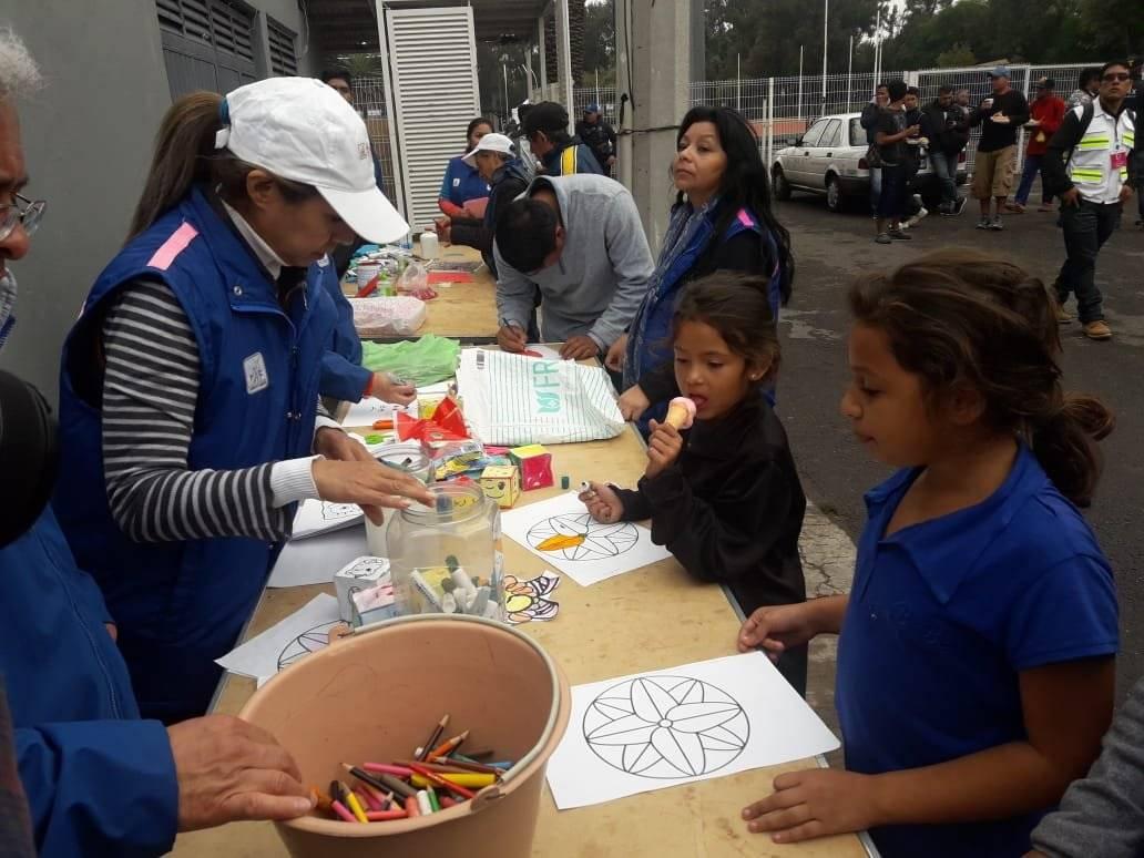 Además los niños tienen actividades didácticas. Foto: Omar Díaz/Publimetro