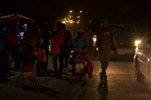 Caravana migrante avanza dispersa