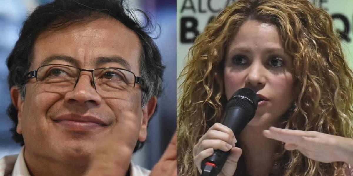 """Petro le da la razón a Shakira por """"regaño"""" al Gobierno Duque por la educación"""