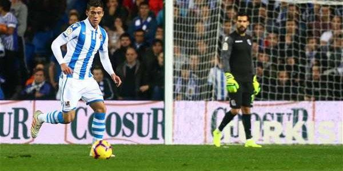 Moreno y Real Sociedad empatan frente al Sevilla
