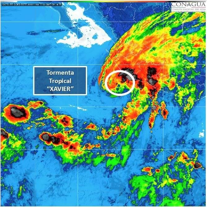 """Tormenta tropical """"Xavier"""" Foto: CONAGUA"""