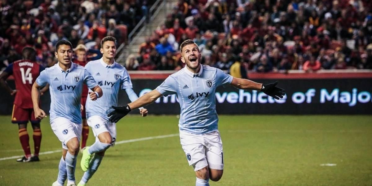 """El """"colocado"""" golazo de Diego Rubio que mantiene vivo al Sporting Kansas en los playoffs de la MLS"""