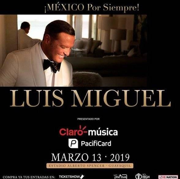 Confirmada la fecha del concierto de Luis Miguel en Ecuador