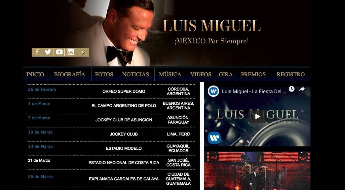 Luis Miguel concierto Guatemala