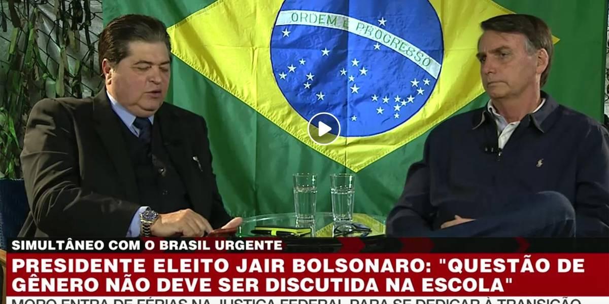 Datena entrevista Jair Bolsonaro