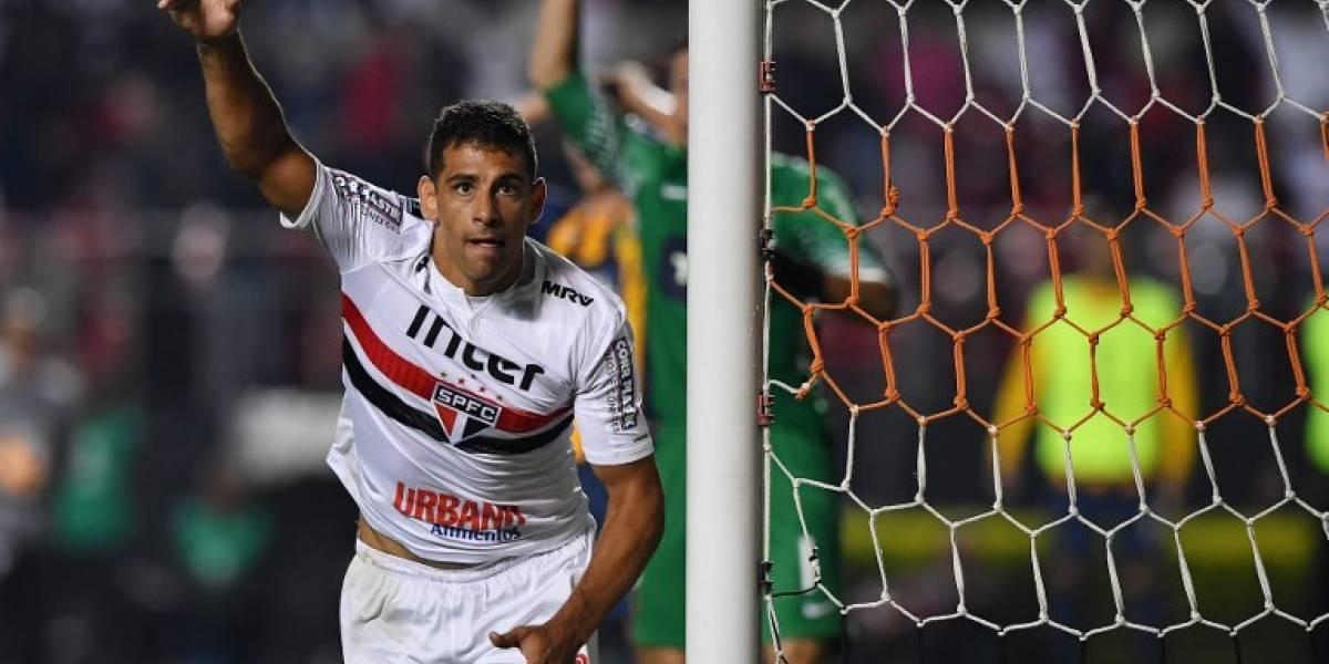 Polémico festejo de un jugador de Sao Paulo en homenaje a Bolsonaro