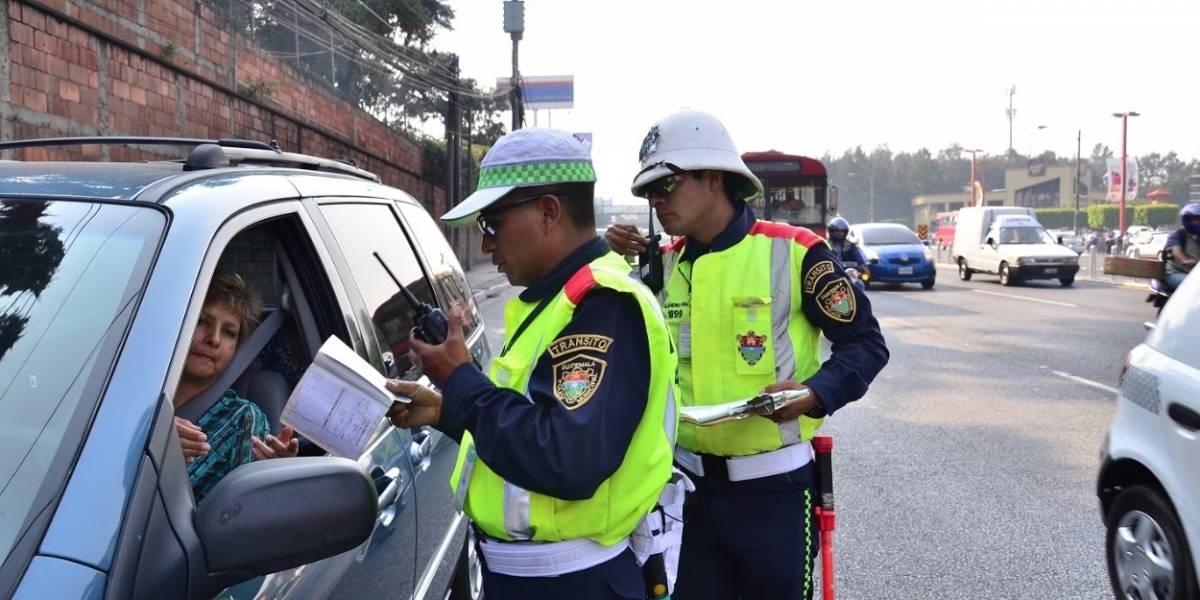 Municipalidad de Guatemala exonerará multas de tránsito hasta un 95%