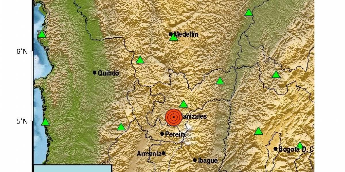 Un fuerte temblor se sintió hoy en el centro del país