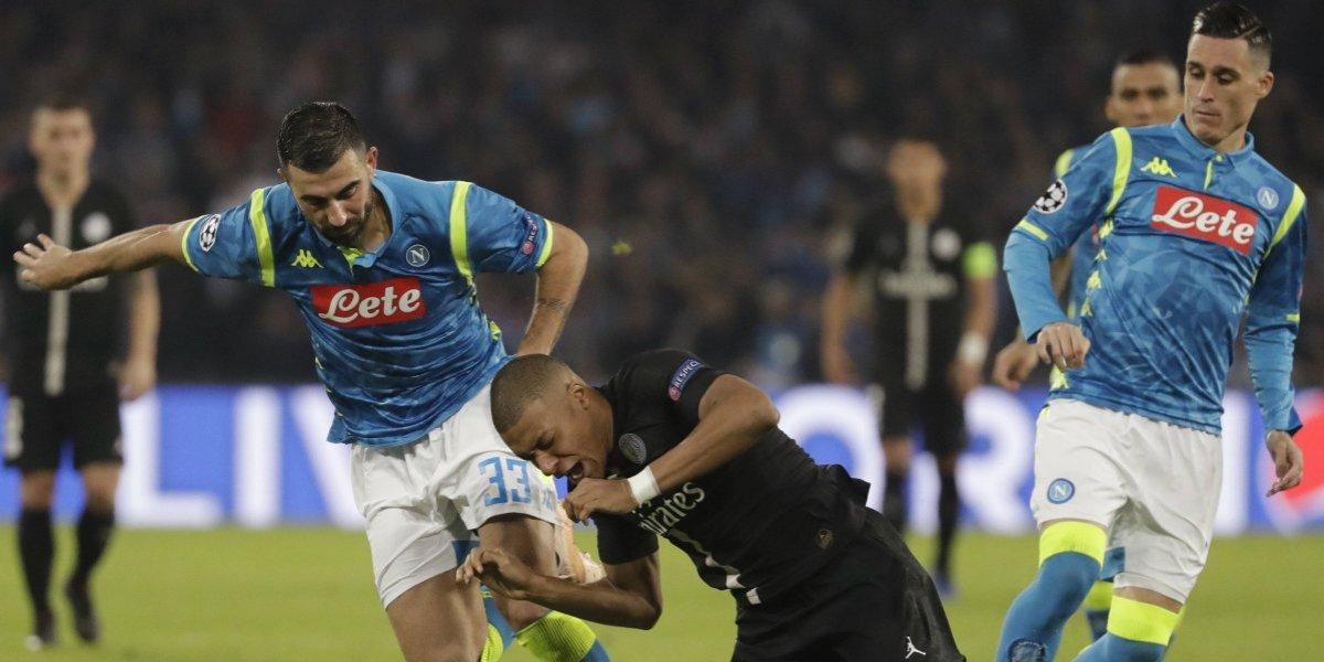 Napoli con PSG empataron y dejaron en llamas el grupo más apretado de la Champions League