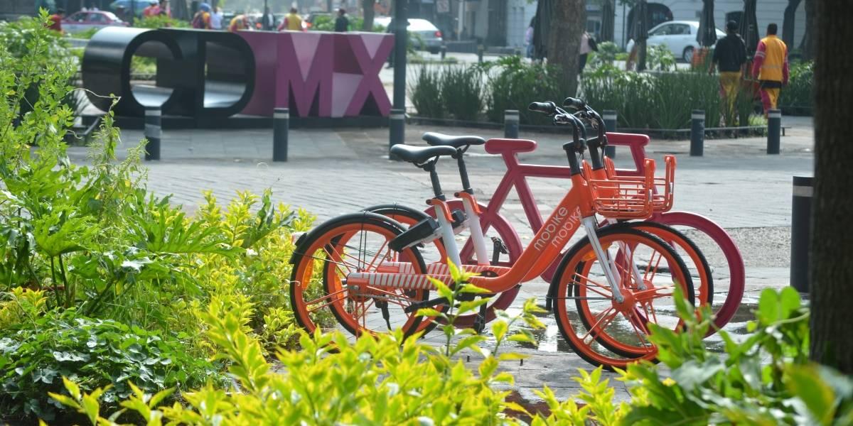 Bicicletas sin anclaje operan sin permiso en la CDMX