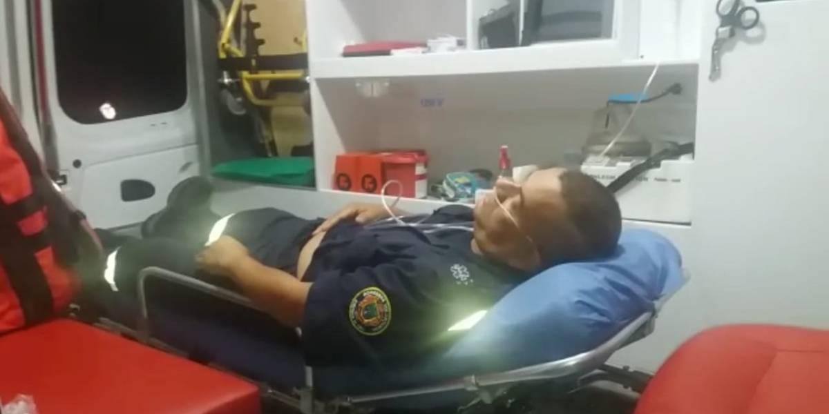 Bomberos fueron agredidos mientras atendían una emergencia