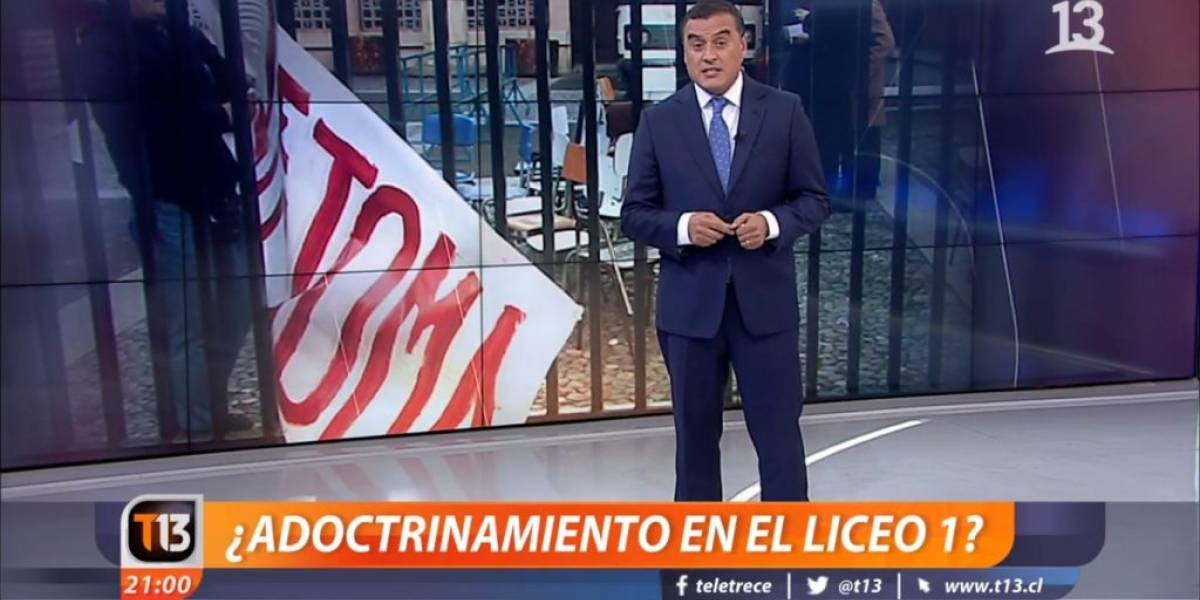 """Canal 13 y nota sobre """"¿Adoctrinamiento en el Liceo 1?"""" es lo más denunciado en el CNTV en octubre"""