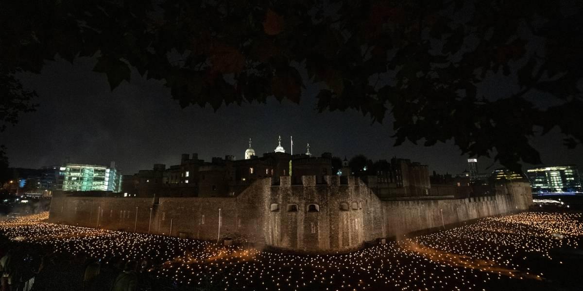 Luces conmemoran final de la Primera Guerra Mundial