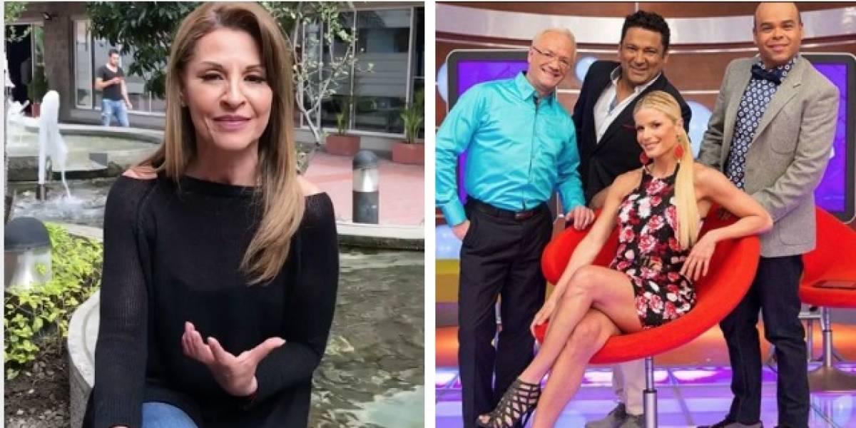 Presentadores de 'La red' se burlan de Amparo Grisales en vivo y en directo