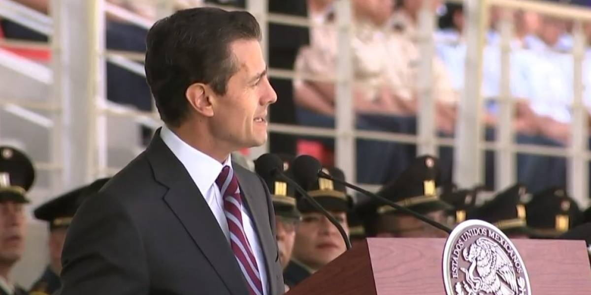 Ley de Seguridad Interior es una deuda a nuestras Fuerzas Armadas: Peña Nieto