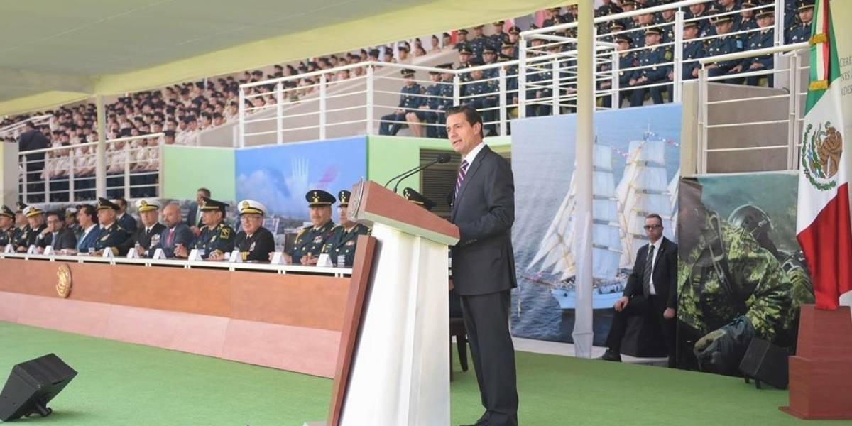 Confía Peña Nieto en que nuevo gobierno continúe apoyo a las Fuerzas Armadas