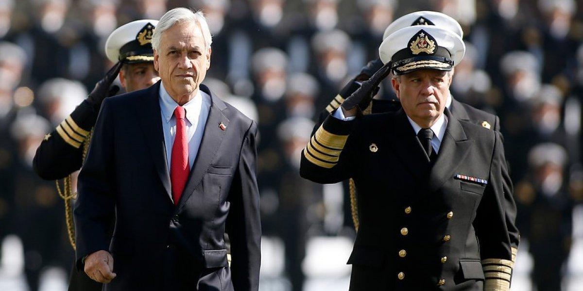 Comandante en jefe de la Armada informó al Presidente Piñera composición del alto mando 2019