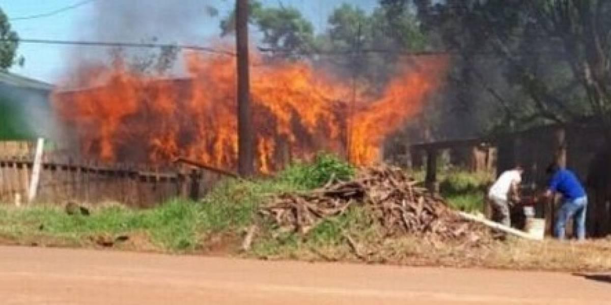 Discusión por Final de Libertadores River-Boca terminó con una casa incendiada
