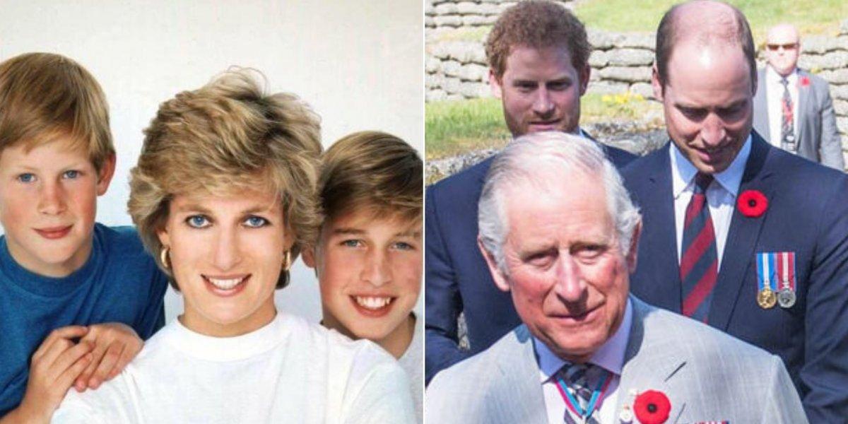 William e Harry revelam a verdadeira relação com o seu pai após a morte da princesa Diana
