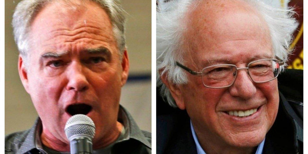 Demócratas Tim Kaine y Bernie Sanders son reelegidos para el Senado