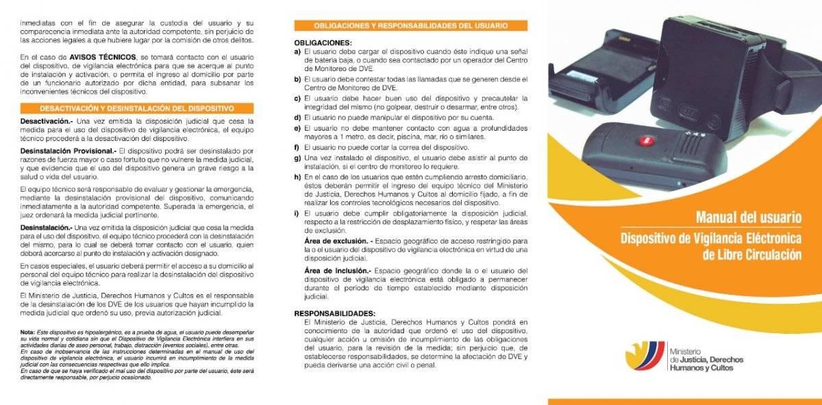 Manual de uso de grillete