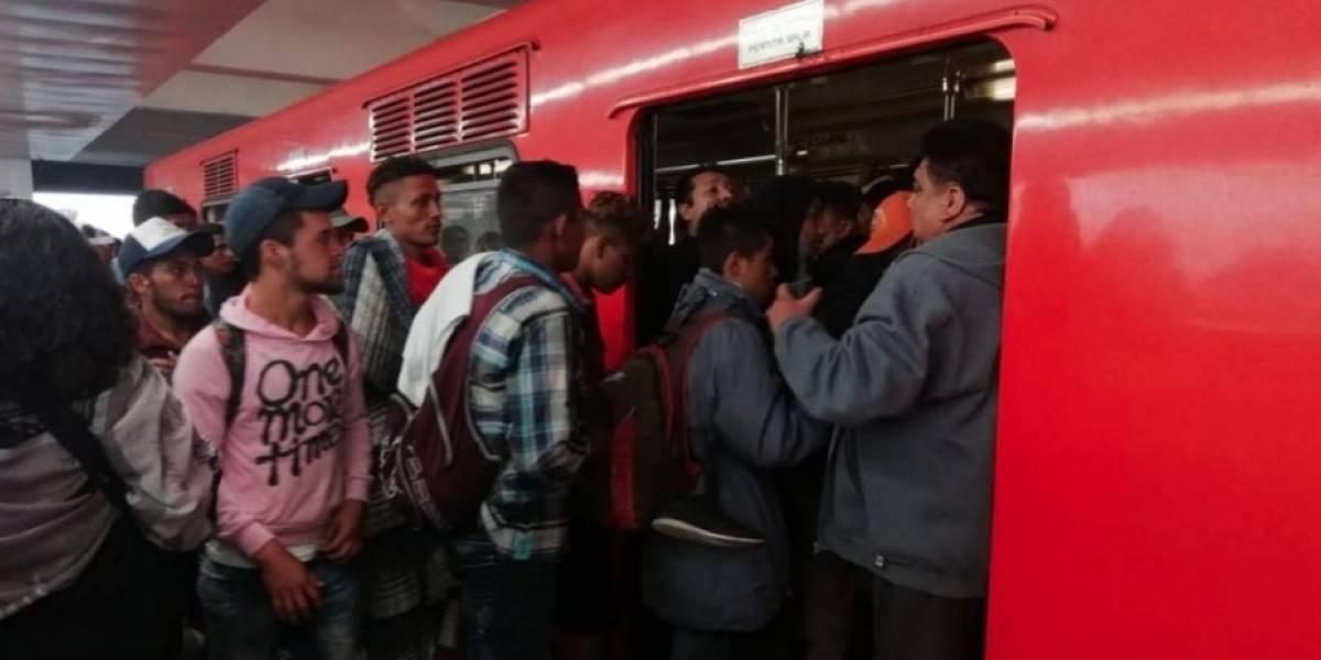 Metro de México habilita vagones exclusivos para migrantes