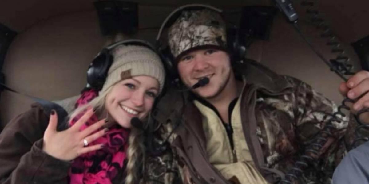 Pareja de recién casados murió al caerse el helicóptero que los llevaba a su luna de miel