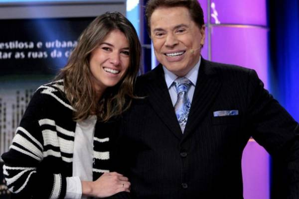 Rebeca Abravanel e Silvio Santos