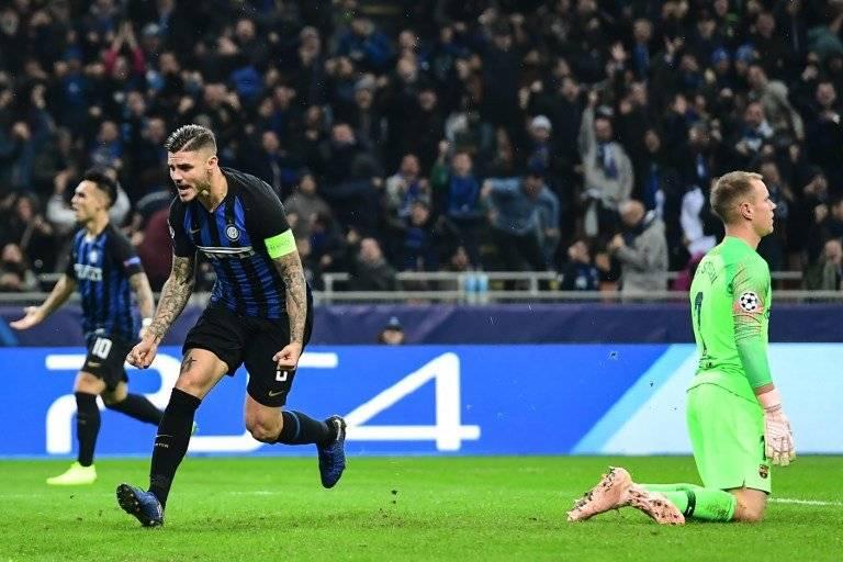 Gol de Mauro Icardi contra el Barcelona