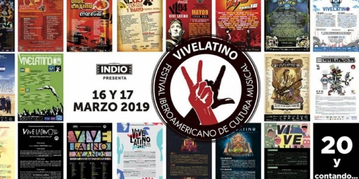 Filtran cartel del Vive Latino 2019
