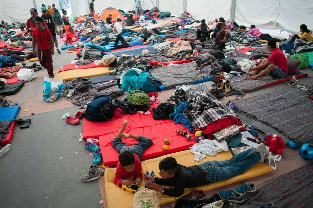 Ya hay 5 mil 500 migrantes en la Magdalena Mixhuca. Foto: Cuartoscuro