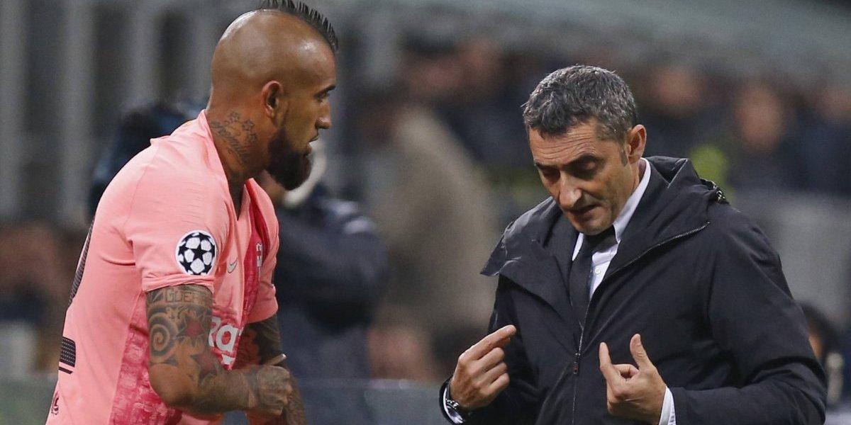 """Ernesto Valverde sigue dándole flores a Vidal: """"Sabemos que nos va a dar rendimiento y contagia con su entusiasmo"""""""