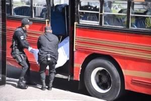 tiroteo en bus ruta 40R en la calzada Roosevelt