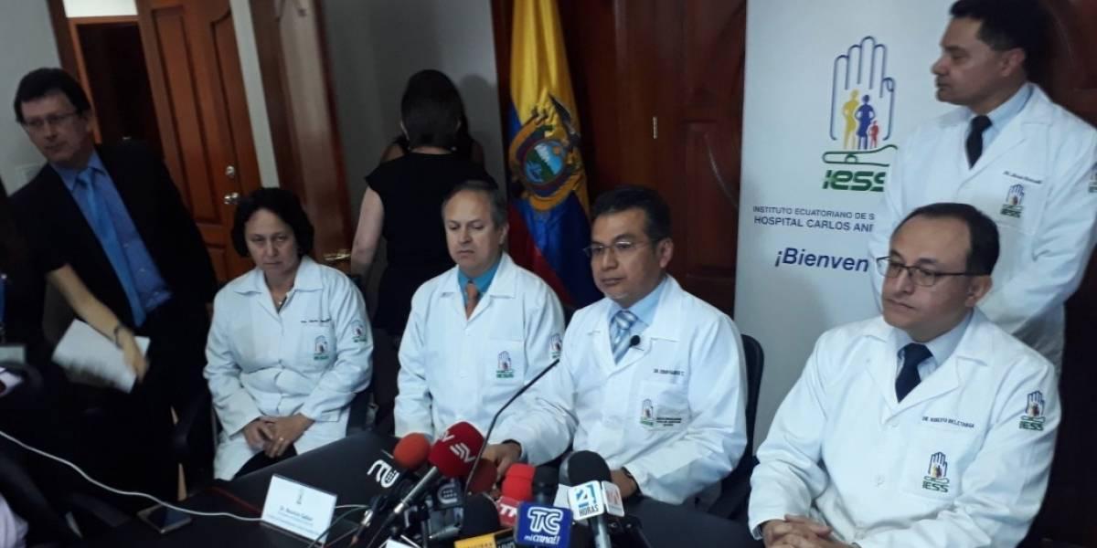 Médicos aseguran que Jorge Glas se encuentra estable de salud y es tratado como un paciente normal