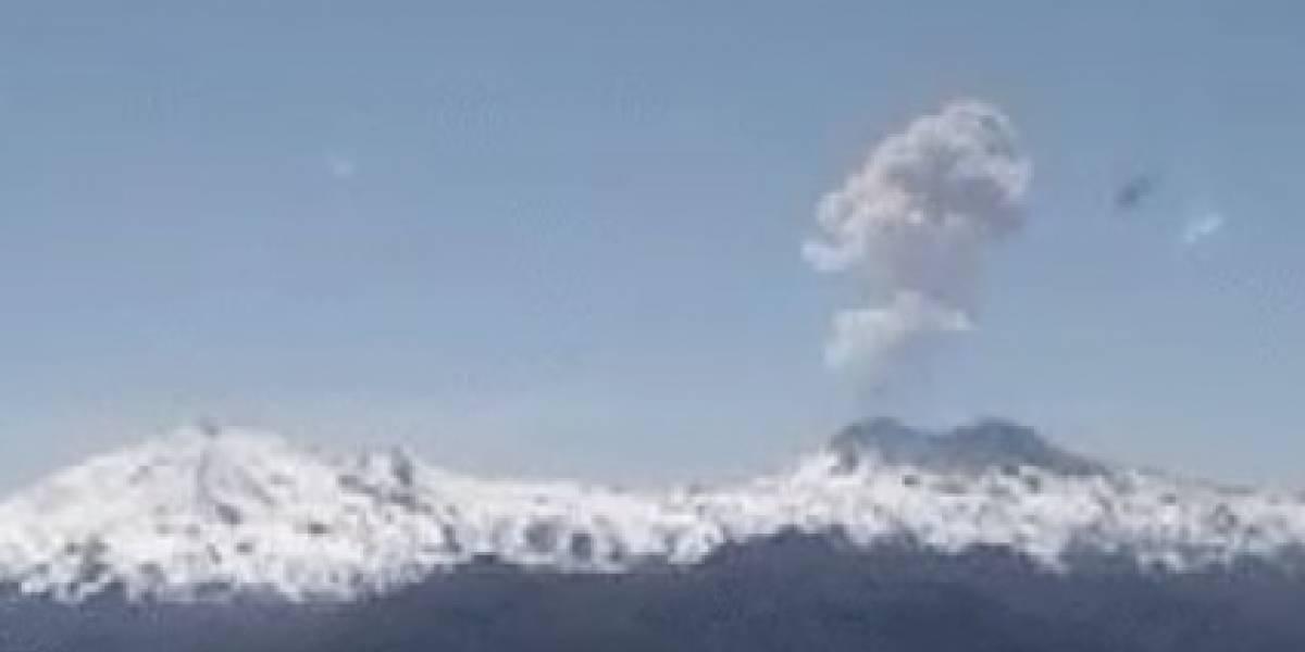 Segundo pulso eruptivo del día: Nevados de Chillán se suma al Planchón-Peteroa y explosión alcanza los 1.500 metros