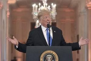 Donald Trump en conferencia de prensa tras legislativas en Estados Unidos