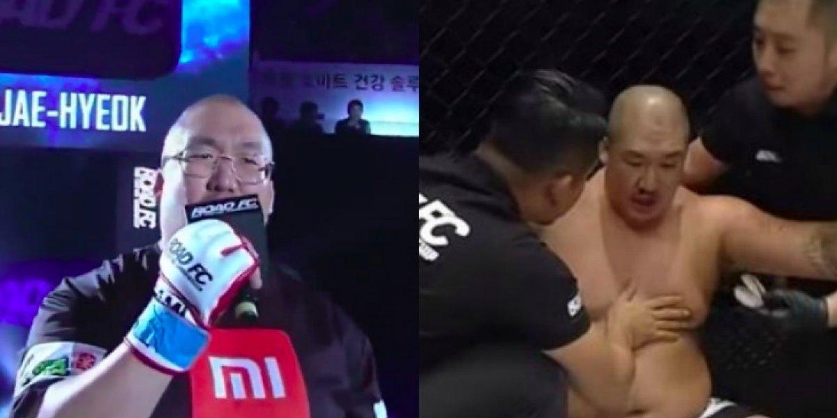 VIDEO: Peleador de MMA entró cantando a la jaula y fue noqueado en 20 segundos
