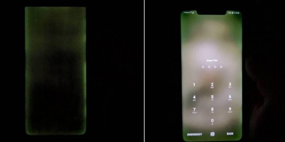 Algunos Huawei Mate 20 Pro están presentando problemas de fuga de luz en su pantalla